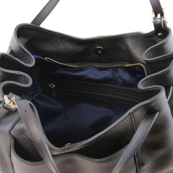 Tuscany Leather 'Cinzia' Soft Leather Shopping Hobo Bag (TL141515) Ladies Shoulder Bag Tuscany Leather
