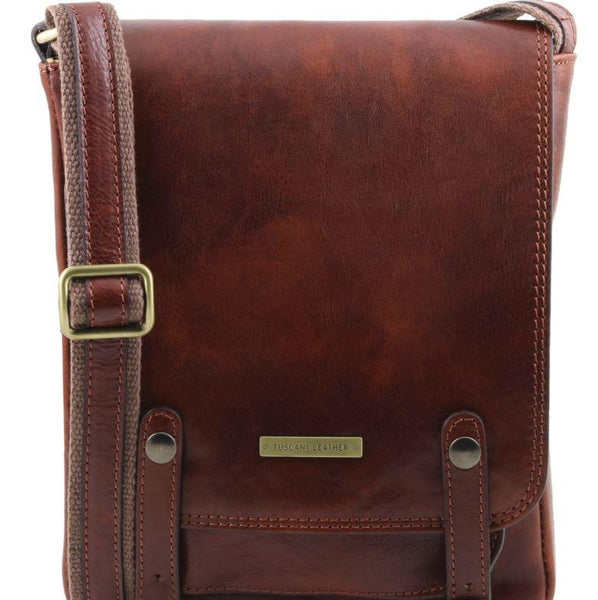 Tuscany Leather 1st Class 'Roby' Men's Crossbody Messenger Bag Messenger Bag Tuscany Leather Brown