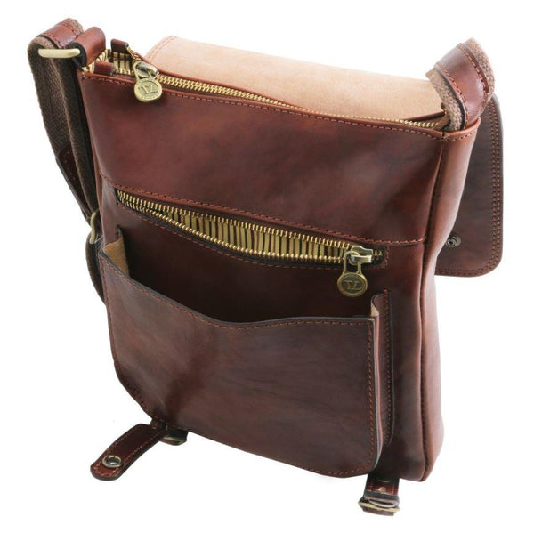 Tuscany Leather 1st Class 'Roby' Men's Crossbody Messenger Bag Messenger Bag Tuscany Leather