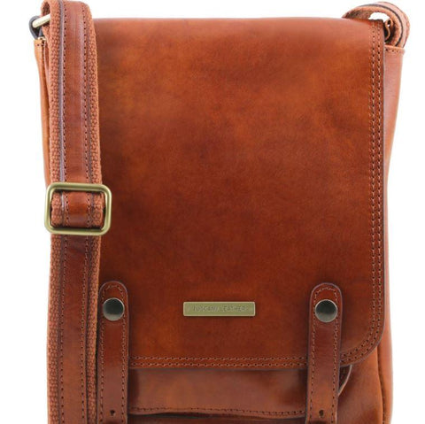 Tuscany Leather 1st Class 'Roby' Men's Crossbody Messenger Bag Messenger Bag Tuscany Leather Honey
