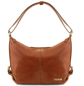 Tuscany Leather Classic 'Sabrina' Soft Leather Hobo Handbag (TL141479) Handbag Tuscany Leather Honey