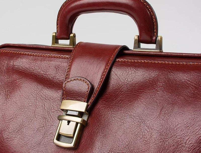 Ponte Vecchio 'Masaccio' Brown Leather Doctor Bag Doctors Bags Original Tuscany