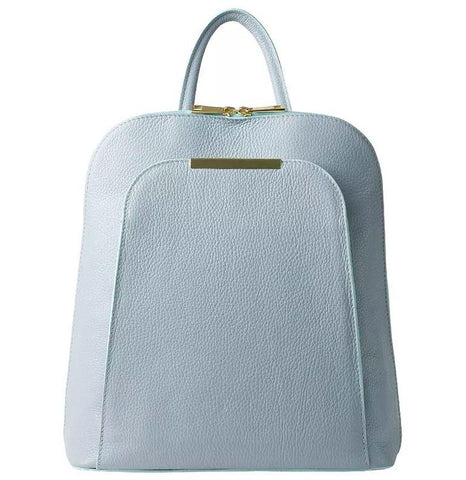 Honey Bag 'Giorgia' Dollaro Women's Leather Backpack Backpack Honey Bag Florence Light Blue