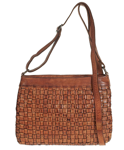 Tuscans Shoulder Bag in Genuine Handwoven Leather