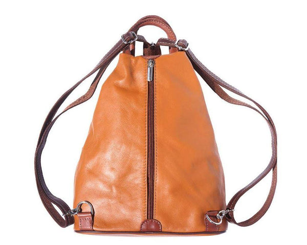 'Vanna' Contrast Colour Italian Leather Backpack - Special Offer Backpack Made in Tuscany