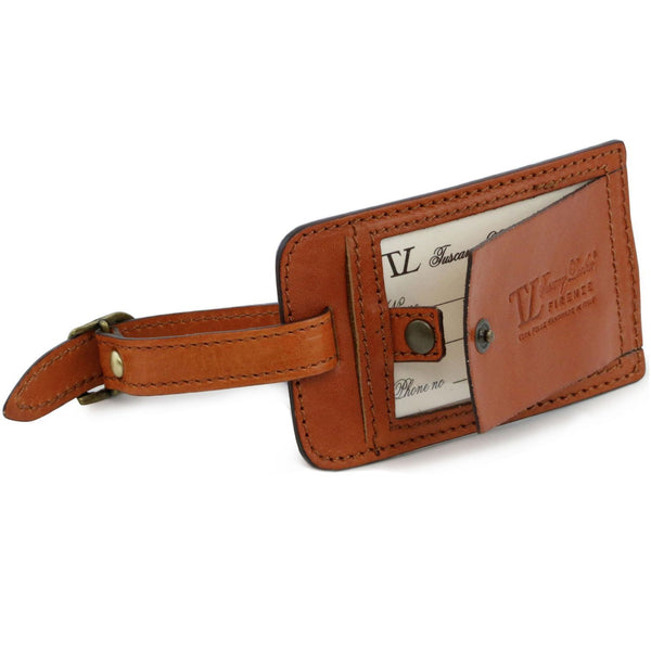 Tuscany Leather 'TL Voyager' Travel Leather Duffle Bag With Front Pocket - Made in Tuscany