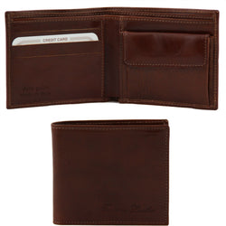 Tuscany Leather Exclusive Classic 3 Fold Men's Leather Wallet - Made in Tuscany