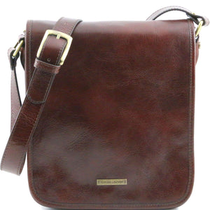 Tuscany Leather 1st Class 'TL Messenger' Leather Messenger Bag (TL141255) Messenger Bag Tuscany Leather Brown
