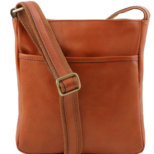 Tuscany Leather 1st Class 'Jason' Men's Crossbody Messenger Bag - Made in Tuscany