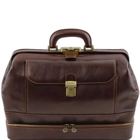 Tuscany Leather 1st Class 'Giotto' Exclusive Leather Doctors Bag Doctors Bags Tuscany Leather Dark Brown