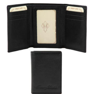 Tuscany Leather Exclusive Classic 3 Fold Men's Leather Wallet (TL140801) Wallets Tuscany Leather Black
