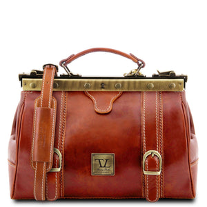 Tuscany Leather Monalisa Classic Gladstone Doctors Leather Bag Doctors Bags Tuscany Leather Honey