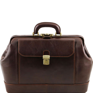 Tuscany Leather 1st Class Leonardo Exclusive Leather Doctors Bag Doctors Bags Tuscany Leather Dark Brown