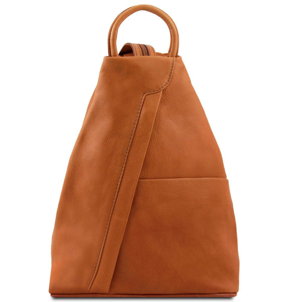 Tuscany Leather Classic Shanghai Leather Backpack - Made in Tuscany