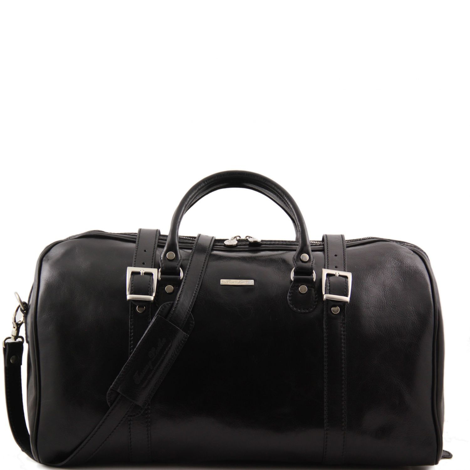 Tuscany Leather 'Berlin' Travel Leather Duffle Bag-Large Duffle Bag Tuscany Leather Black