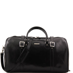 Tuscany Leather Berlin Travel Leather Duffle Bag-Large - Made in Tuscany