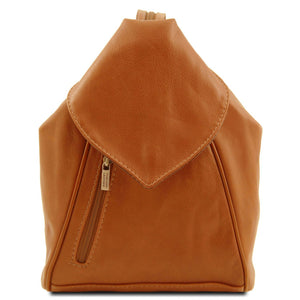 Tuscany Leather Classic 'Delhi'  Leather Backpack - Made in Tuscany