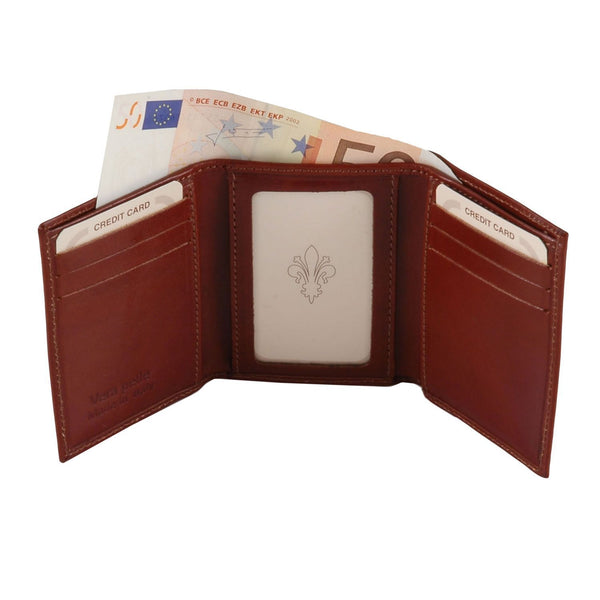 Tuscany Leather Exclusive Classic 3 Fold Men's Leather Wallet (TL140801) Wallets Tuscany Leather