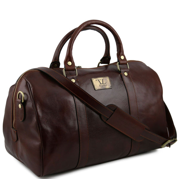 Tuscany Leather Small 'TL Voyager' Travel Leather Duffle Bag - Small Duffle Bag Tuscany Leather
