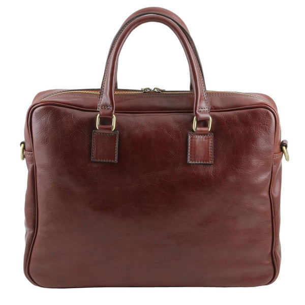 Tuscany Leather Urbino Leather Laptop Carry Briefcase - Made in Tuscany