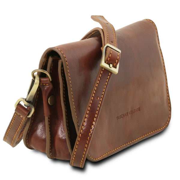 Tuscany Leather Classic 'Carmen' Leather Shoulder Bag With Flap Ladies Shoulder Bag Tuscany Leather