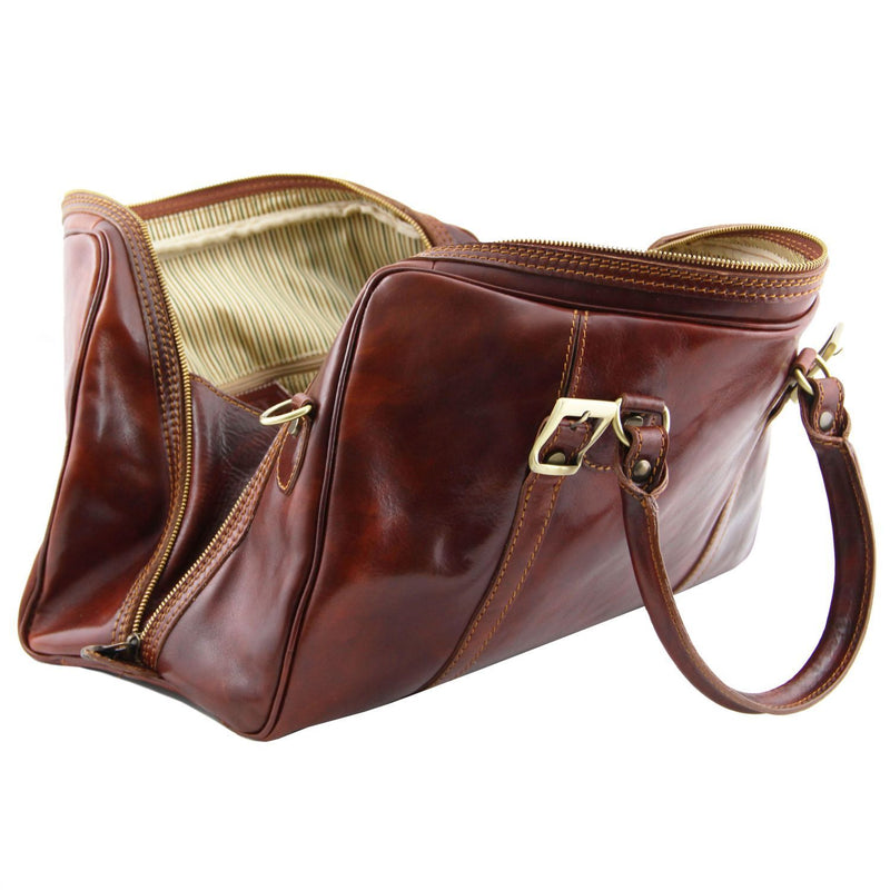 60e910afb79d Tuscany Leather 'Berlin' Travel Leather Duffle Bag-Small – Made in ...