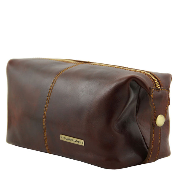 Tuscany Leather 'Roxy' Leather Toiletry Bag - Made in Tuscany