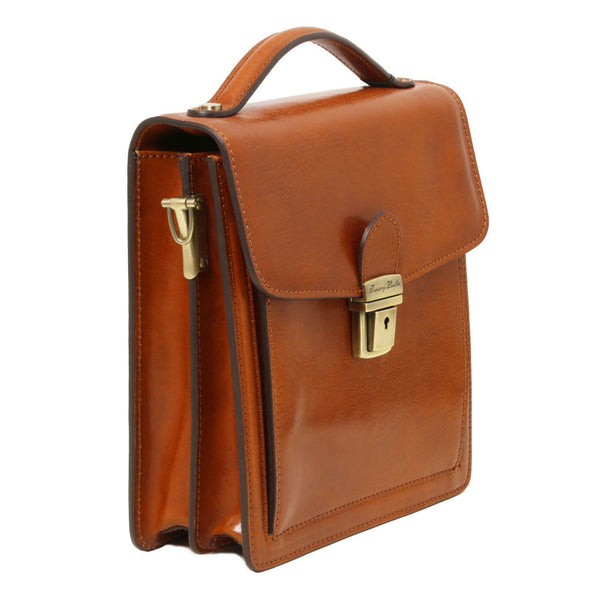 Tuscany Leather 1st Class 'David' Men's Leather Crossbody Bag - Small Messenger Bag Tuscany Leather