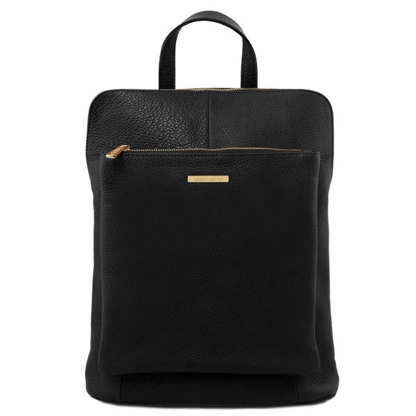 Tuscany Leather 'TL Bag' Soft Leather Backpack For Women (TL141682) Backpack Tuscany Leather Black