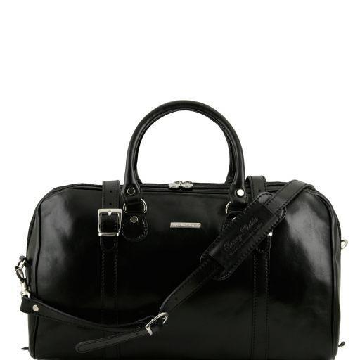 Tuscany Leather 'Berlin' Travel Leather Duffle Bag-Small Duffle Bag Tuscany Leather Black