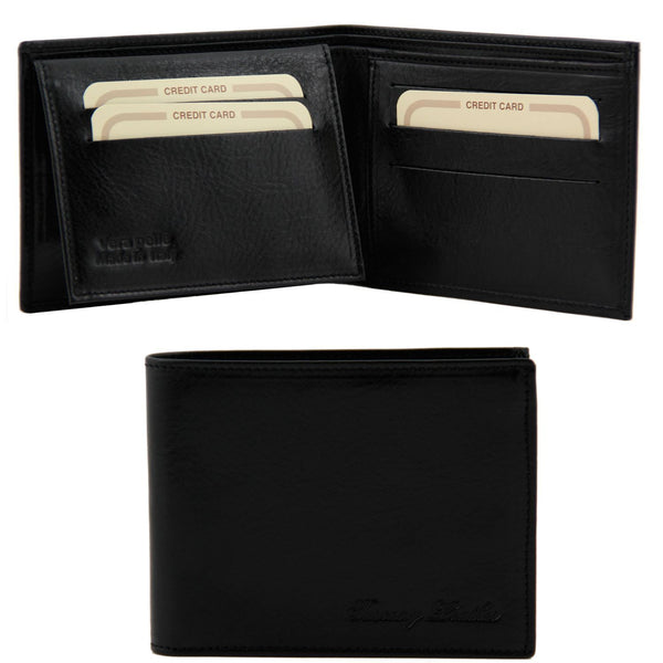 Tuscany Leather Exclusive Classic 3 Fold Men's Leather Wallet (TL140760) - Made in Tuscany
