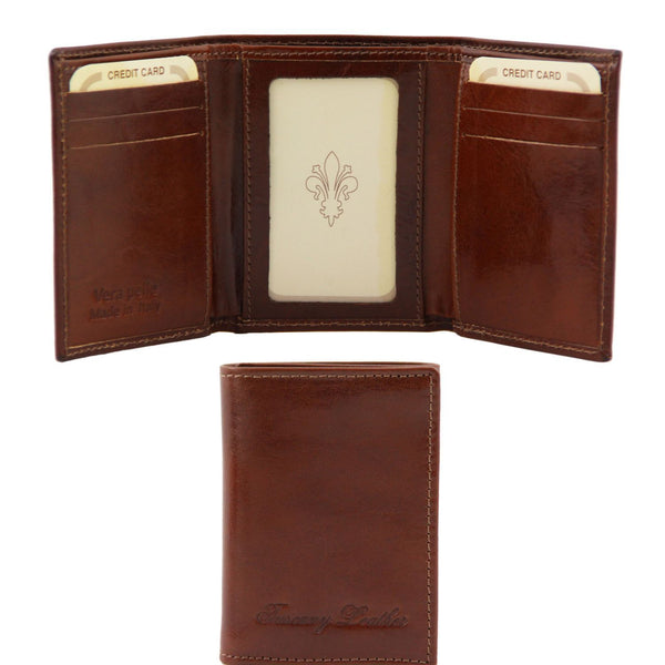 Tuscany Leather Exclusive Classic 3 Fold Men's Leather Wallet (TL140801) Wallets Tuscany Leather Brown