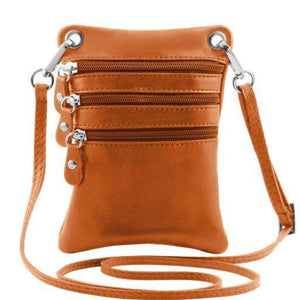 Tuscany Leather 'TL Bag' Mini Shoulder Bag (TL141368) Ladies Shoulder Bag Tuscany Leather Cognac