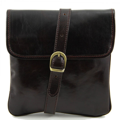 Tuscany Leather Classic 'Joe' Men's Leather Crossbody Messenger Bag - Made in Tuscany