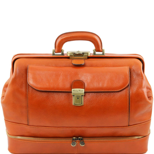 Tuscany Leather 1st Class 'Giotto' Exclusive Leather Doctors Bag - Made in Tuscany