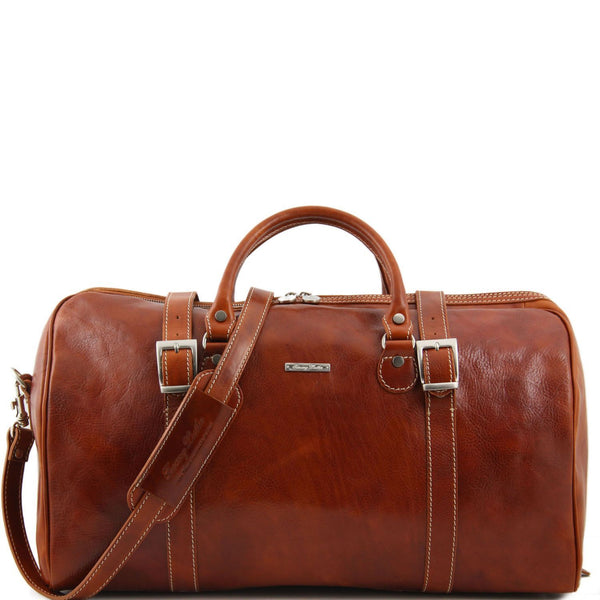 Tuscany Leather 'Berlin' Travel Leather Duffle Bag-Large Duffle Bag Tuscany Leather Honey