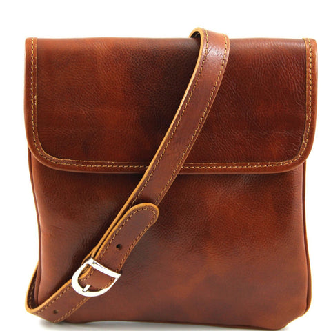 Tuscany Leather Classic 'Joe' Men's Leather Cross-Body Messenger Bag Messenger Bag Tuscany Leather Honey