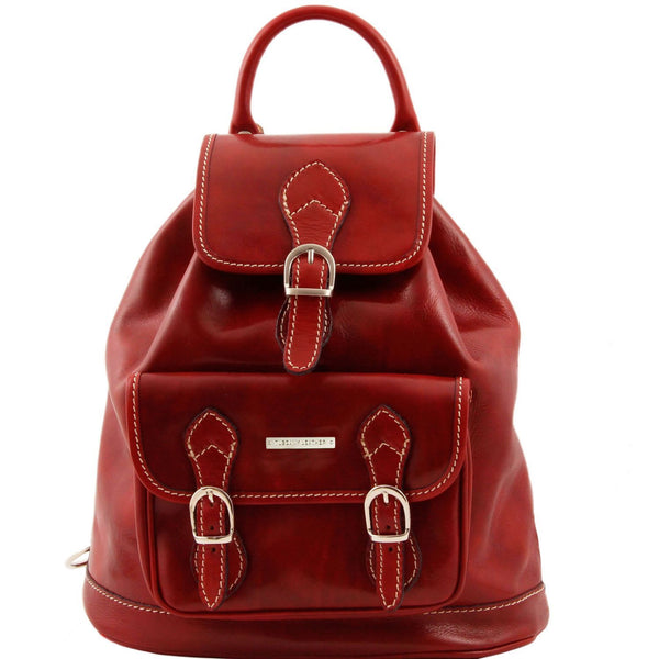 Tuscany Leather Classic Singapore Leather Backpack - Made in Tuscany
