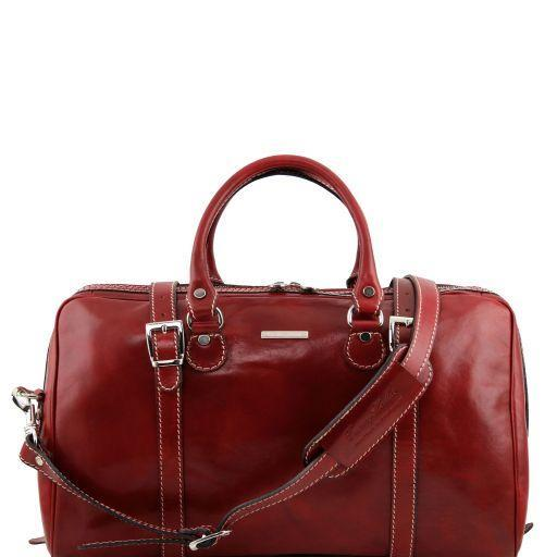 Tuscany Leather 'Berlin' Travel Leather Duffle Bag-Small Duffle Bag Tuscany Leather Red