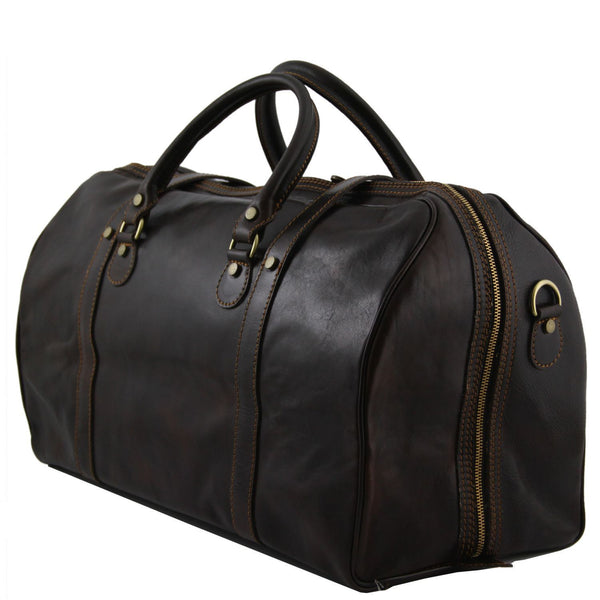 Tuscany Leather 'Berlin' Travel Leather Duffle Bag-Large Duffle Bag Tuscany Leather