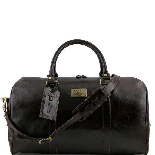 Tuscany Leather 'TL Voyager' Travel Leather Duffle Bag - Large (TL141247) Duffle Bag Tuscany Leather Dark Brown