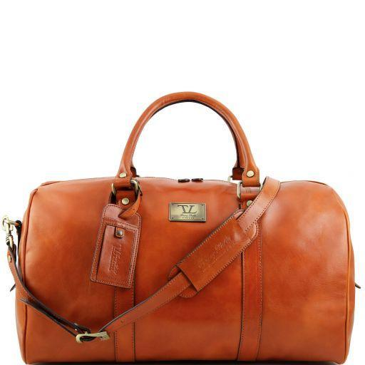 Tuscany Leather 'TL Voyager' Travel Leather Duffle Bag - Large (TL141247) Duffle Bag Tuscany Leather Honey