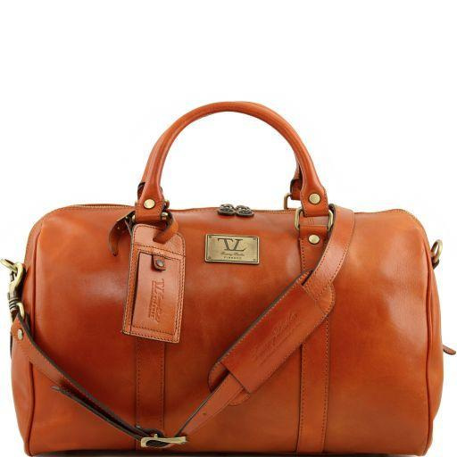 Tuscany Leather Small 'TL Voyager' Travel Leather Duffle Bag - Small Duffle Bag Tuscany Leather Honey