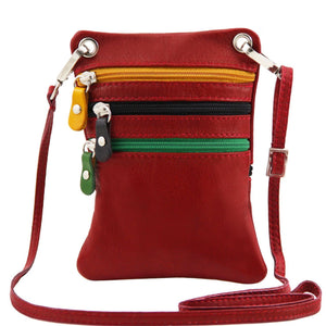 Tuscany Leather 'TL Bag' Mini Shoulder Bag (TL141368) Ladies Shoulder Bag Tuscany Leather Red