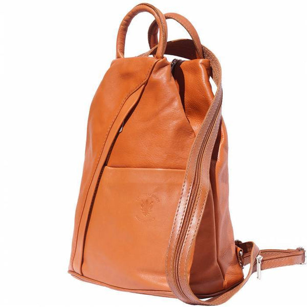 'Vanna' Contrast Colour Italian Leather Backpack Backpack Made in Tuscany
