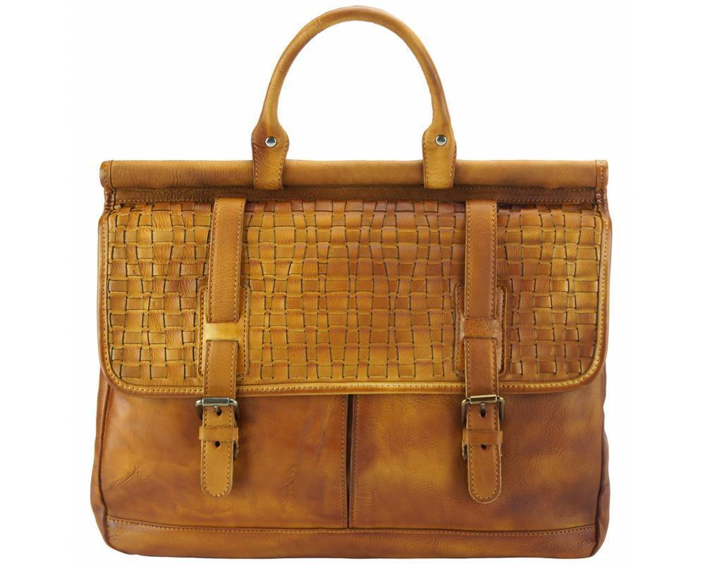 Made in Tuscany 'Florine' Leather Shopping Handbag