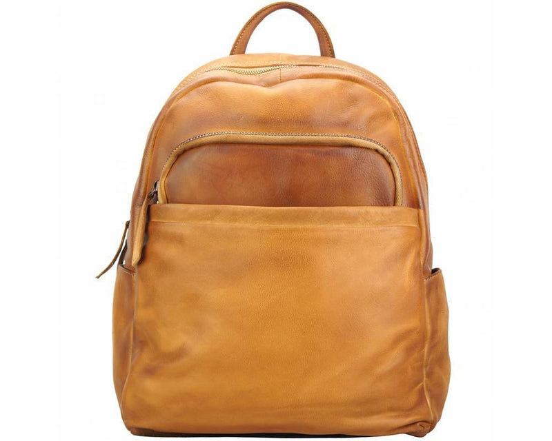 Made In Tuscany 'Jake' Leather Backpack Backpack Made in Tuscany Tan