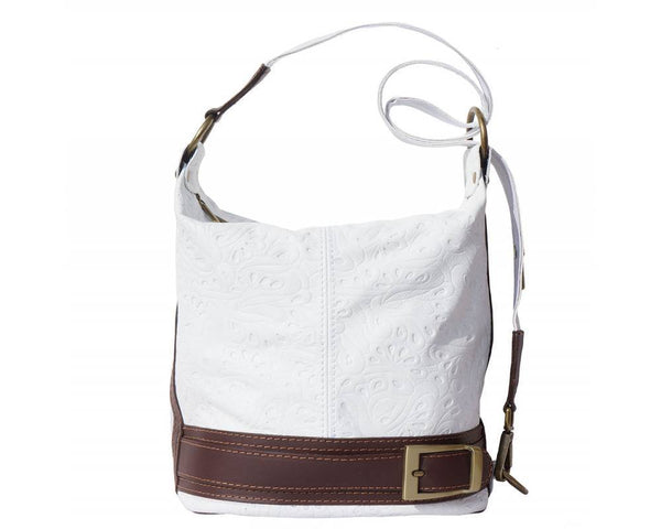 Made In Tuscany 'Caterina S' Leather Backpack Backpack Made in Tuscany White Brown