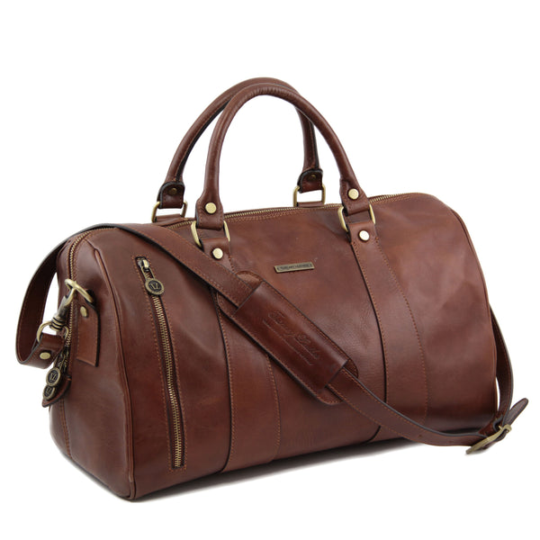 Tuscany Leather 'TL Voyager' Travel Leather Duffle Bag - Small (TL141216) Duffle Bag Tuscany Leather
