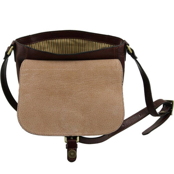 Tuscany Leather Classic 'Jody' Leather Shoulder Bag With Flap Ladies Shoulder Bag Tuscany Leather